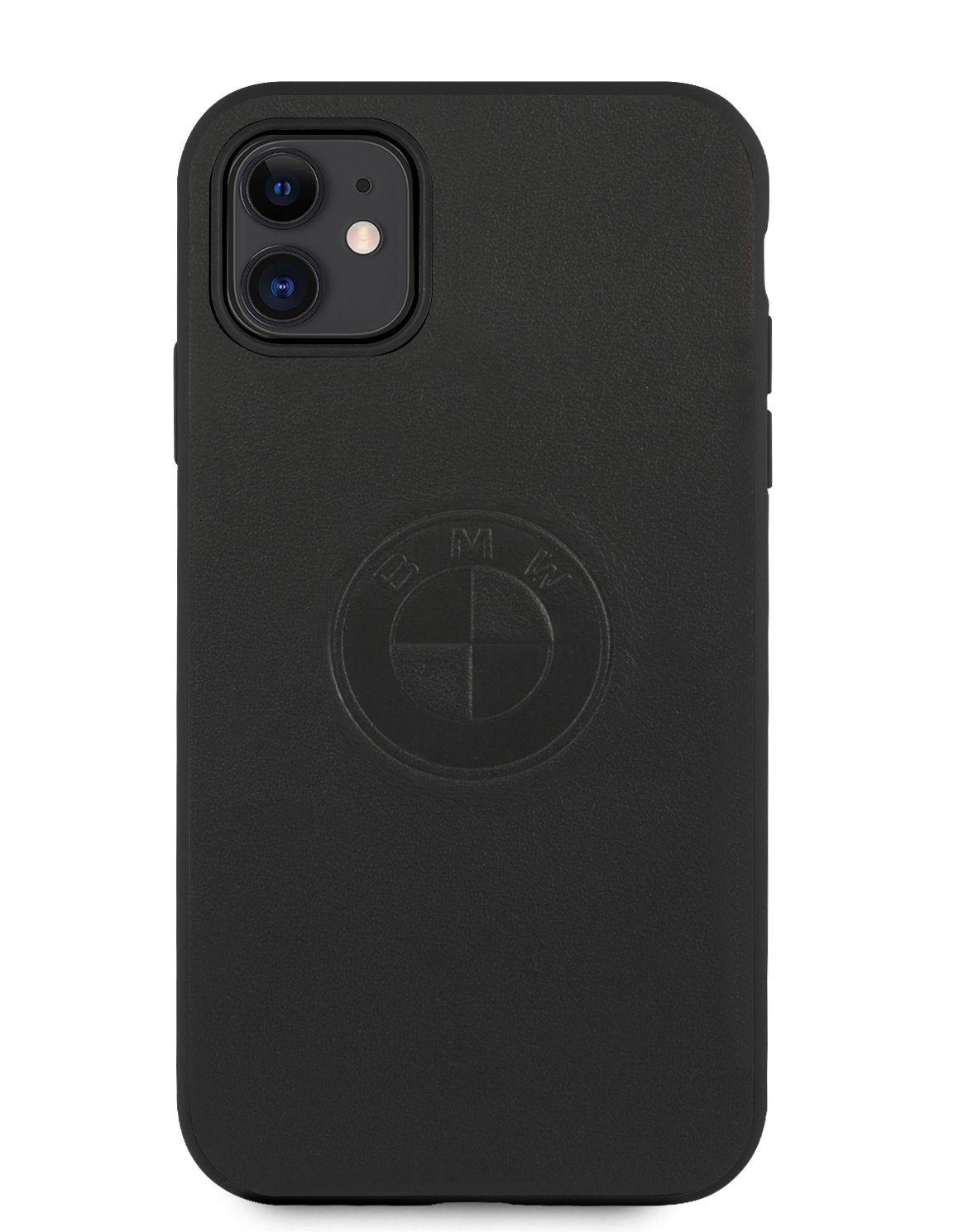 Ochranný kryt BMW Signature Leather Embossed Logo BMHCP12LREELK pro Apple iPhone 12 Pro Max, černá