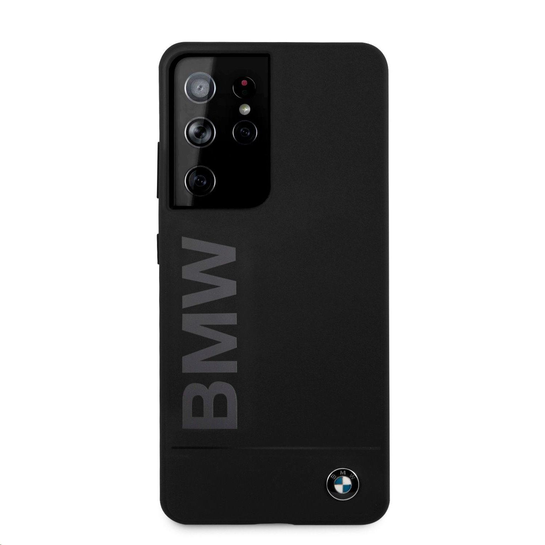 Ochranný kryt BMW Big Logo BMHCS21LSLBLBK pro Samsung Galaxy S21 Ultra, černá