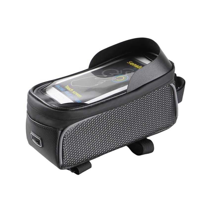 Voděodolná brašna na kolo s krytým pouzdrem na telefon Forever Model 01, černá