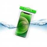 Voděodolné plovoucí pouzdro na mobil FIXED Float Edge, limetková