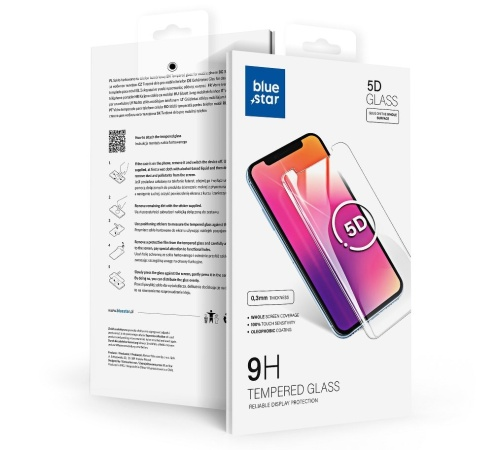 Tvrzené sklo Blue Star 5D pro Apple iPhone 7, 8, SE 2020, bílá