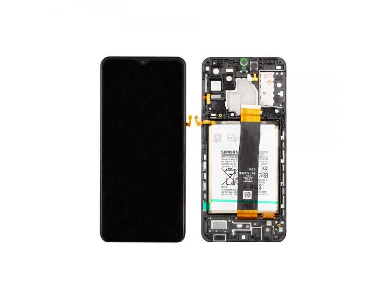 LCD + dotyk + rámeček pro Samsung Galaxy A32 4G 2021, black ( Service Pack )