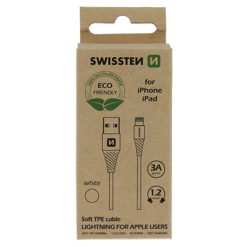 Datový kabel Swissten USB/Lightning 1,2M, bílá