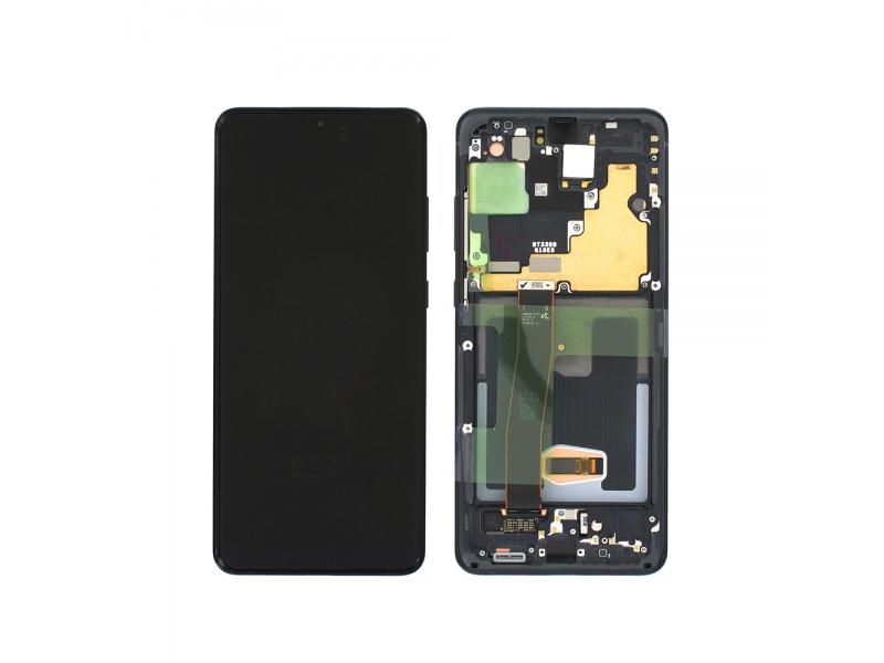 LCD + dotyk + rámeček pro Samsung Galaxy S20 Ultra, awesome black ( Service Pack )