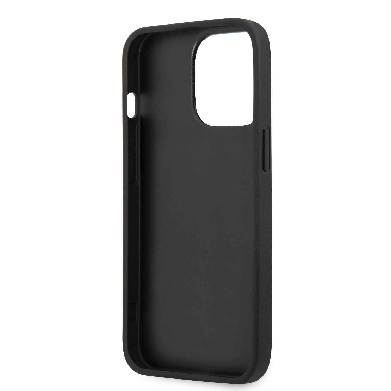 Zadní kryt Guess PU 4G Metal Logo GUHCP13X4GMGGR pro Apple iPhone 13 Pro Max, šedá