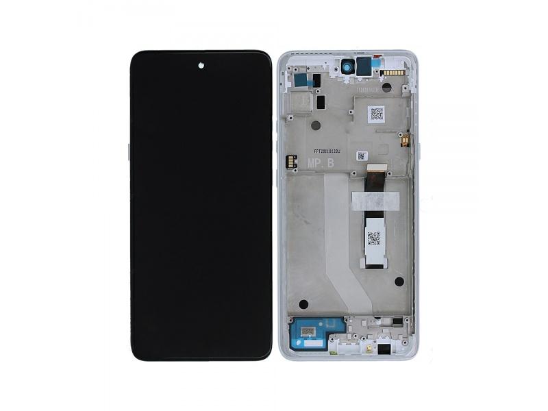LCD + dotyk + rámeček pro Motorola Moto G 5G, frosted silver ( Service Pack )