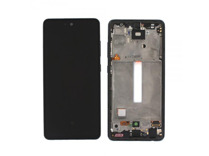 LCD + dotyk + rámeček pro Samsung Galaxy A52/A52 5G/A52s 5G awesome black