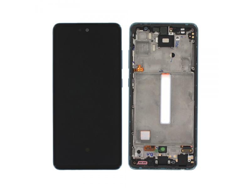 LCD + dotyk + rámeček pro Samsung Galaxy A52/A52 5G/A52s 5G, blue