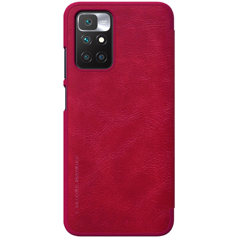 Nillkin Qin flipové pouzdro pro Xiaomi Redmi 10/10 Prime, červená