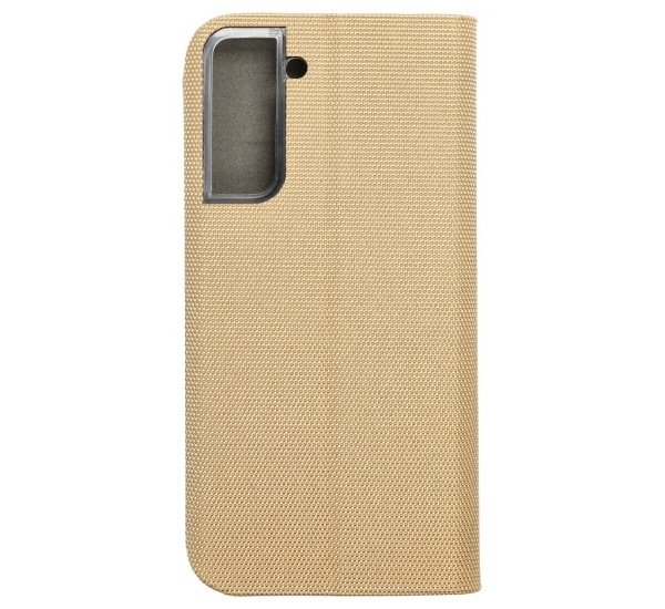 Flipové pouzdro SENSITIVE pro Samsung Galaxy S21, zlatá