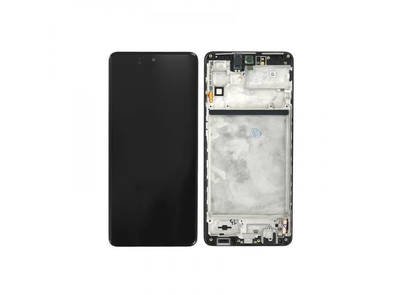 LCD + dotyk + rámeček pro Samsung Galaxy M51 M515, celestial black ( Service Pack )
