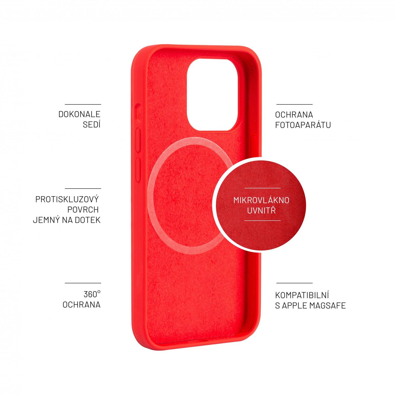 Zadní kryt FIXED MagFlow s podporou Magsafe pro Apple iPhone 13 Pro, červená