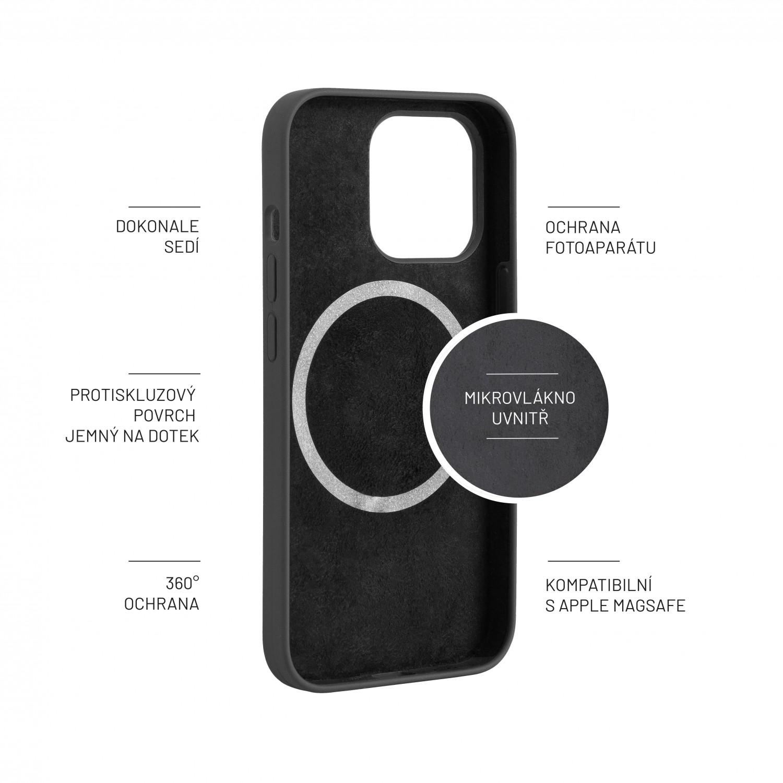 Zadní kryt FIXED MagFlow s podporou MagSafe pro Apple iPhone 13 Pro, černý