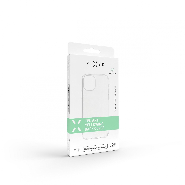 Zadní TPU gelové pouzdro FIXED Slim AntiUV pro Apple iPhone 13 Pro, čirá