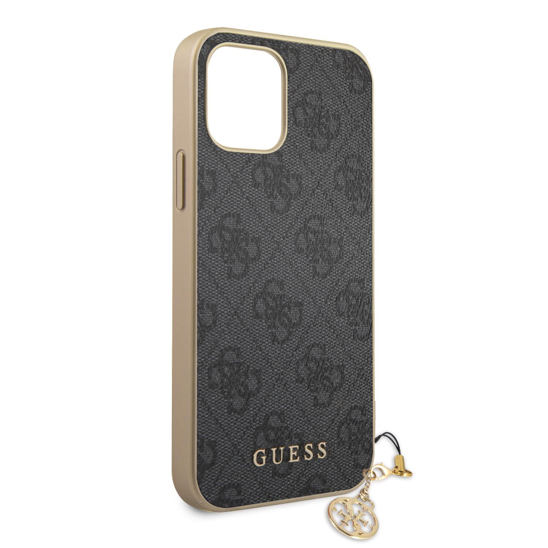 Guess 4G Charms zadní kryt GUHCP13LGF4GGR pro Apple iPhone 13 Pro, šedá