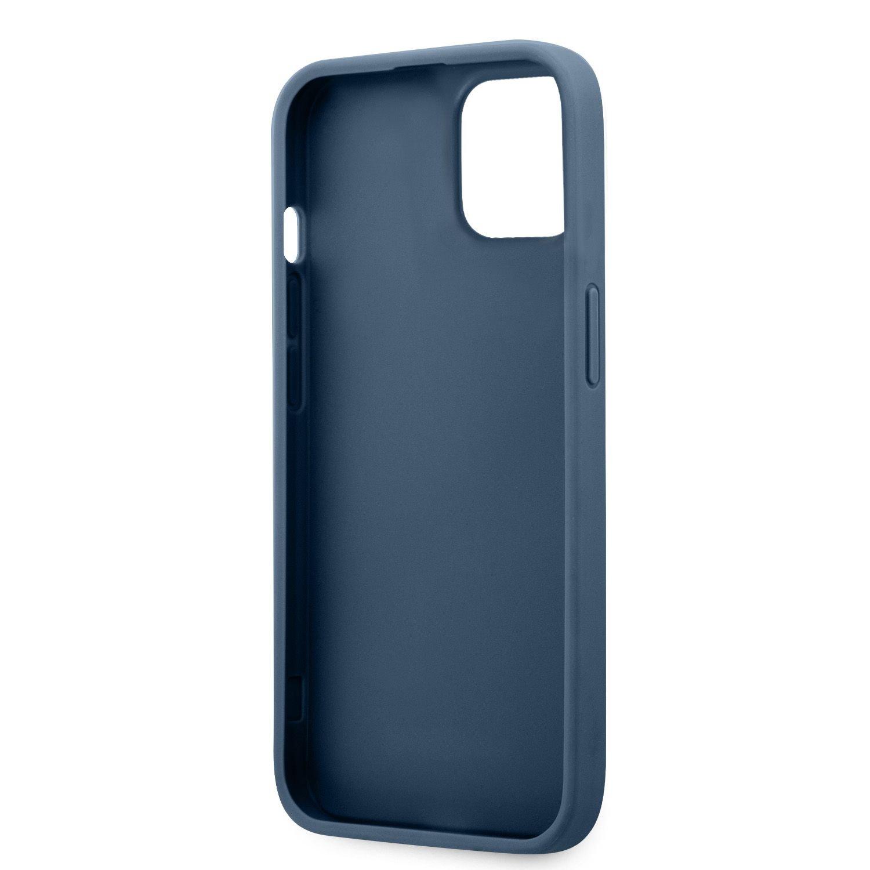 Zadní kryt Guess PU 4G Printed Stripe GUHCP13M4GDBL pro Apple iPhone 13, modrá
