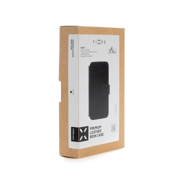 Kožené pouzdro typu kniha FIXED ProFit pro Apple iPhone 13 Pro, černá