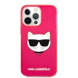 Silikonové pouzdro Karl Lagerfeld TPU Choupette Head KLHCP13XCHTRP pro Apple iPhone 13 Pro Max, růžová