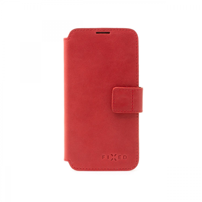 Kožené pouzdro typu kniha FIXED ProFit pro Apple iPhone 13 Pro Max, červená