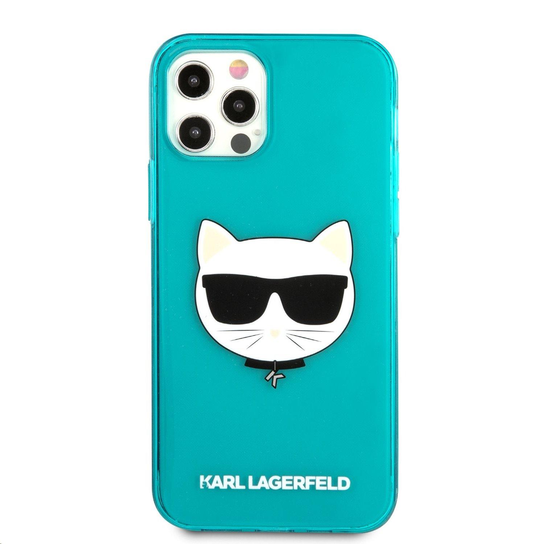 Silikonové pouzdro Karl Lagerfeld TPU Choupette Head KLHCP13XCHTRB pro Apple iPhone 13 Pro Max, modrá
