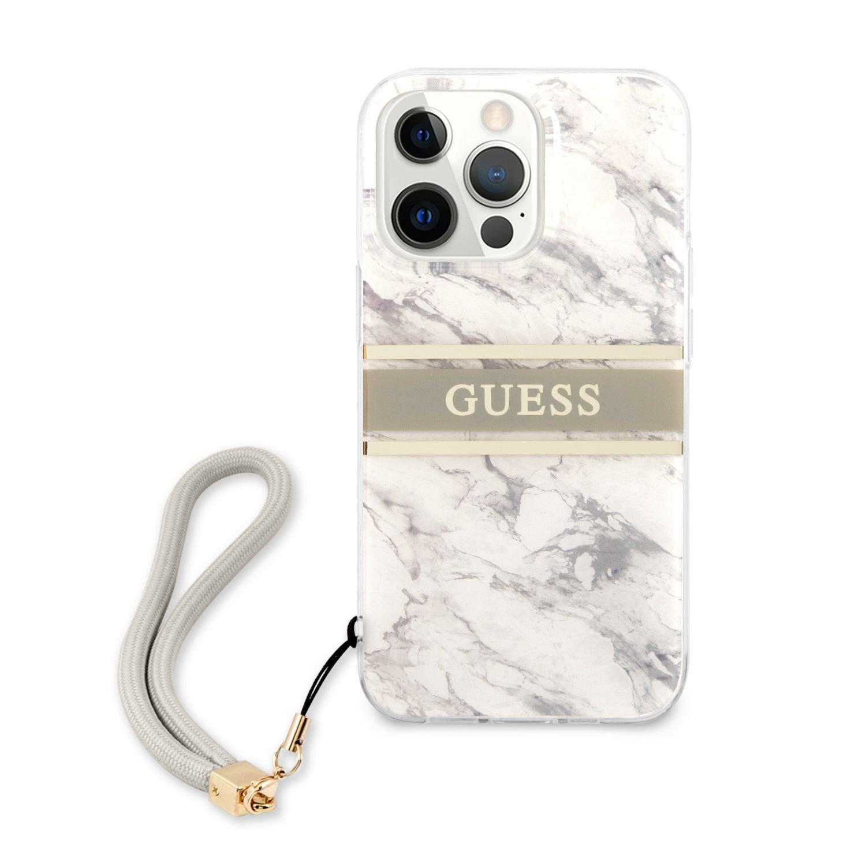Zadní kryt Guess TPU Marble Stripe GUHCP13XKMABGR pro Apple iPhone 13 Pro Max, šedá