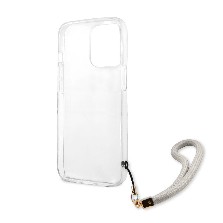 Zadní kryt Guess TPU Marble Stripe GUHCP13LKMABGR pro Apple iPhone 13 Pro, šedá