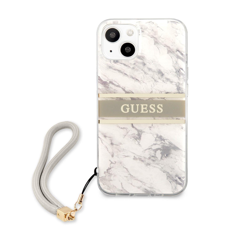 Zadní kryt Guess TPU Marble Stripe GUHCP13MKMABGR pro Apple iPhone 13, šedá