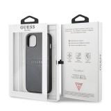 Zadní kryt Guess PU Leather Saffiano GUHCP13MPSASBGR pro Apple iPhone 13, šedá