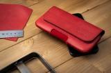 Horizontální kožené pouzdro FIXED Posh se zavíráním velikost 6XL+, červená