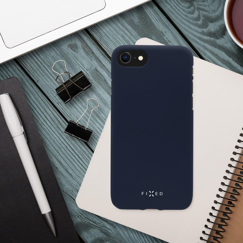 Zadní pogumovaný kryt FIXED Story pro Apple iPhone 13 Pro Max, modrá