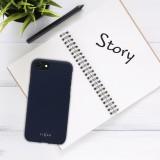 Zadní pogumovaný kryt FIXED Story pro Apple iPhone 13 mini, modrá