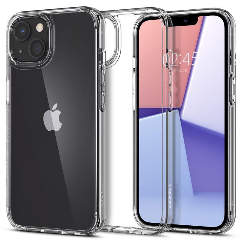 Ochranný kryt Spigen Crystal Hybrid crystal clear pro Apple iPhone 13, transparentní