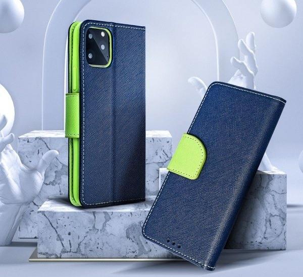 Flipové pouzdro Fancy pro Samsung Galaxy S10 Lite, modro-limetková