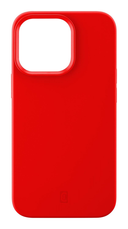 Silikonový kryt Cellularline Sensation pro Apple iPhone 13 Pro Max, červená
