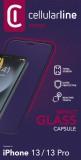 Tvrzené sklo Cellularline CAPSULE pro Apple iPhone 13/13 Pro, černá