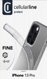 CellularLine Fine extratenký zadní kryt pro Apple iPhone 13 Pro, transparentní