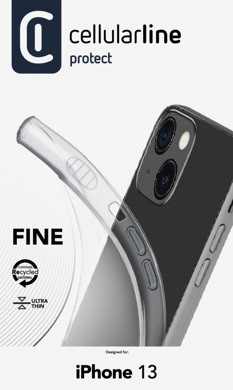 CellularLine Fine extratenký zadní kryt pro Apple iPhone 13, transparentní