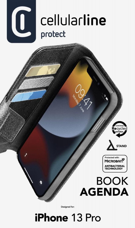 Cellularline Book Agenda 2 flipové pouzdro pro Apple iPhone 13 Pro, černá
