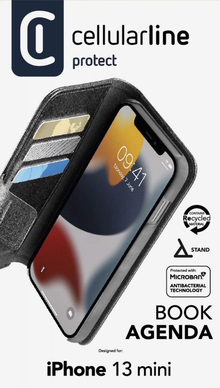 Cellularline Book Agenda 2 flipové pouzdro pro Apple iPhone 13 Mini, černá