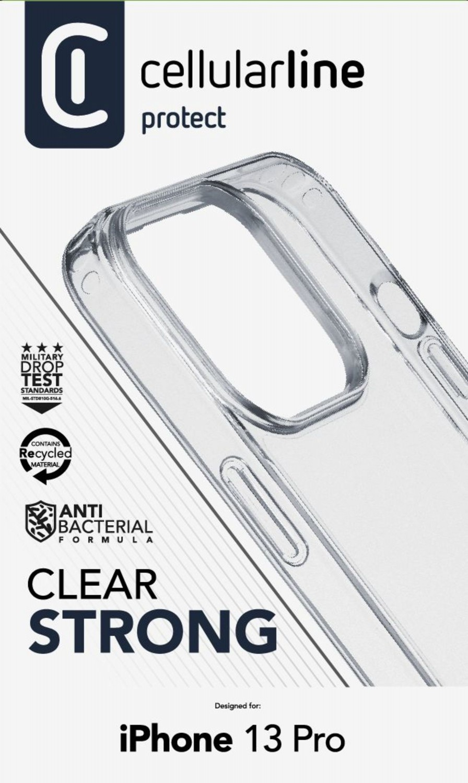 Zadní kryt Cellularline Clear Duo pro Apple iPhone 13 Pro, transparentní