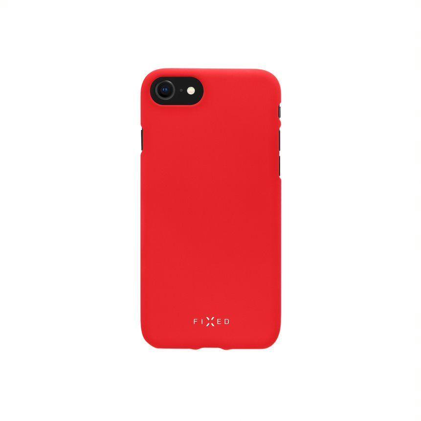 Zadní pogumovaný kryt FIXED Story pro Samsung Galaxy A22, červená