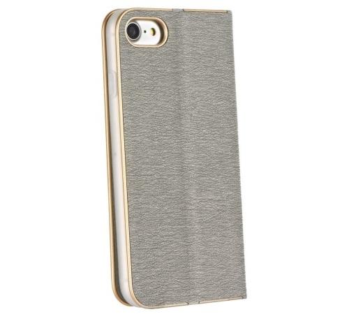 Flipové pouzdro Forcell Luna Book pro Samsung Galaxy A22 5G, stříbrná