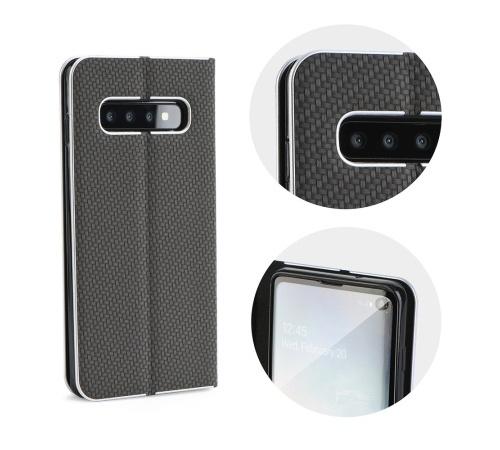 Pouzdro Forcell Luna Carbon flipové pouzdro pro Samsung Galaxy A22 5G, černá