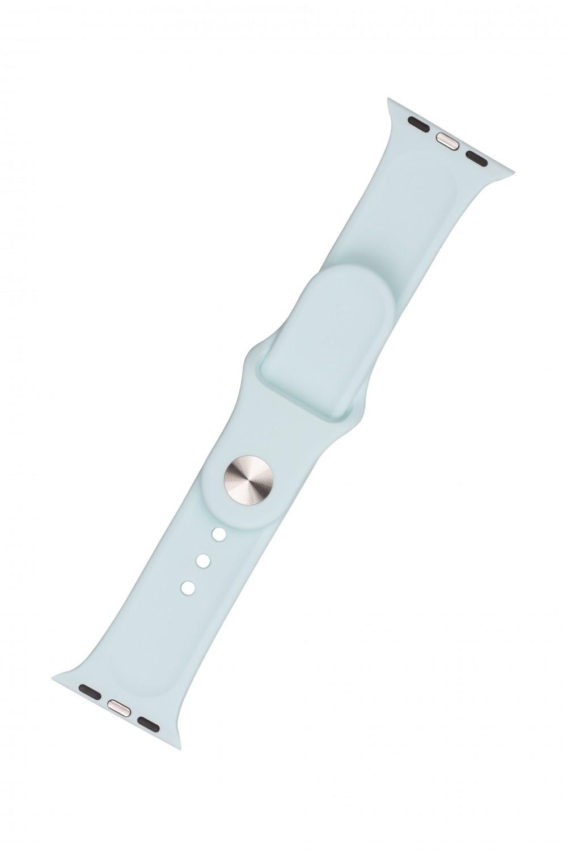 Set silikonových řemínků FIXED Silicone Strap pro Apple Watch 42/44/45 mm, světlě zelená