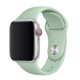 Set silikonových řemínků FIXED Silicone Strap pro Apple Watch 42/44/45 mm, světle tyrkysová
