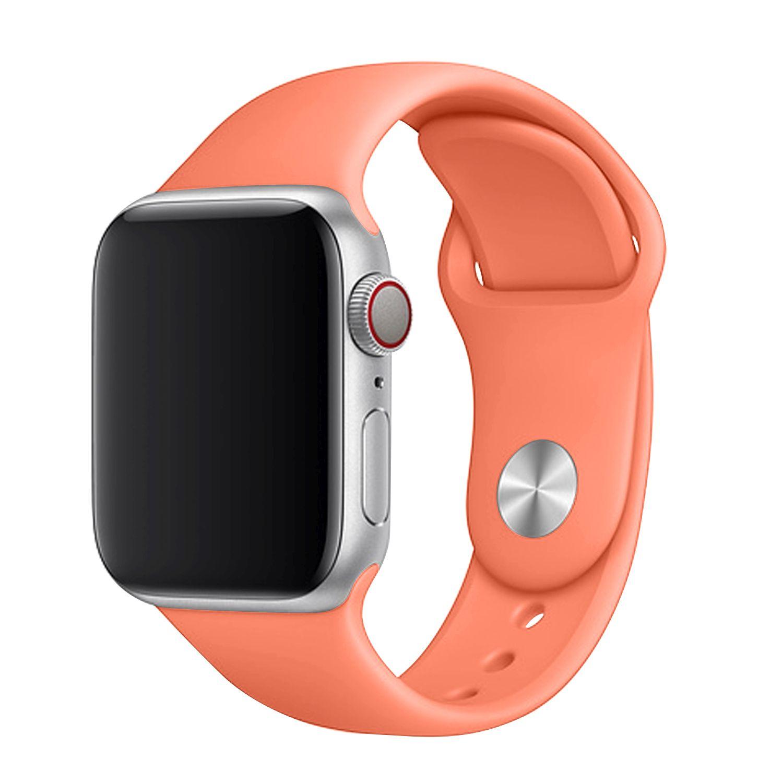 Set silikonových řemínků FIXED Silicone Strap pro Apple Watch 42/44/45 mm, oranžová