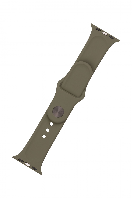 Set silikonových řemínků FIXED Silicone Strap pro Apple Watch 42/44/45 mm, olivová
