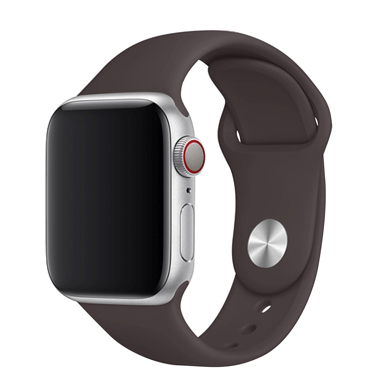 Set silikonových řemínků FIXED Silicone Strap pro Apple Watch 42/44/45 mm, kakaová