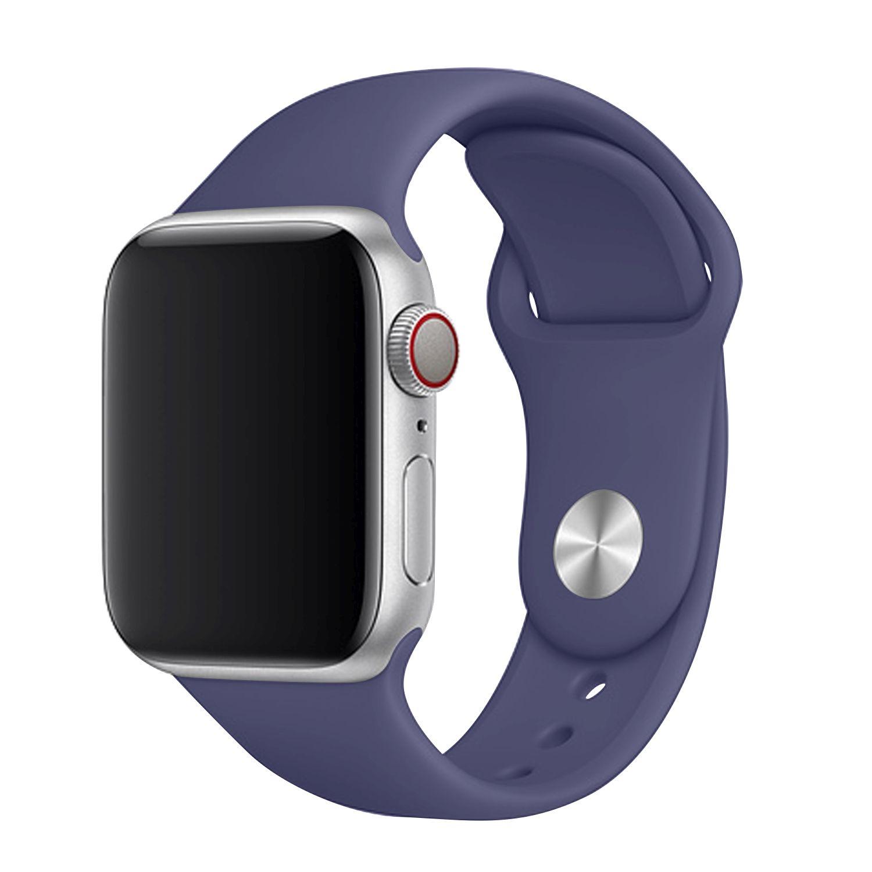 Set silikonových řemínků FIXED Silicone Strap pro Apple Watch 42/44/45 mm, oceánsky modrá