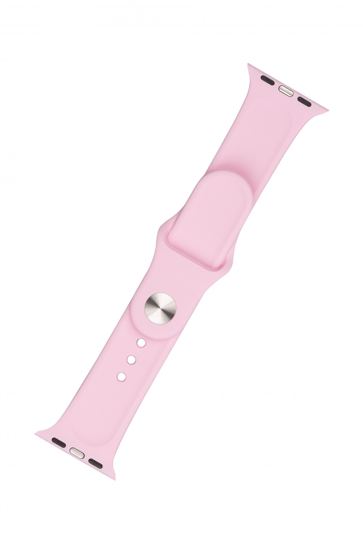 Set silikonových řemínků FIXED Silicone Strap pro Apple Watch 38/40/41 mm, světle růžová